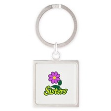 SISTERS FLOWER Keychains