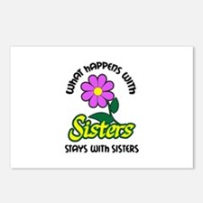 WHAT HAPPENS WITH SISTERS Postcards (Package of 8)