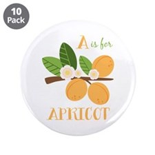 "A Is For Apricot 3.5"" Button (10 pack)"