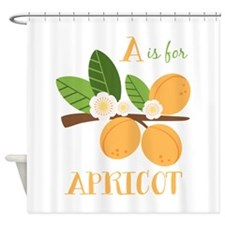 A Is For Apricot Shower Curtain