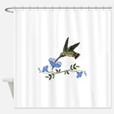 HUMMINGBIRD AND FLOWERS Shower Curtain
