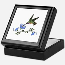 HUMMINGBIRD AND FLOWERS Keepsake Box