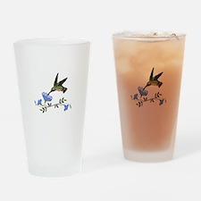 HUMMINGBIRD AND FLOWERS Drinking Glass