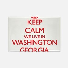 Keep calm we live in Washington Georgia Magnets