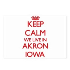 Keep calm we live in Akro Postcards (Package of 8)