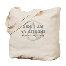 Yes I Am An Atheist Tote Bag