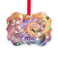 Colorful Floating Orbs Ornament