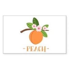 Peach Decal