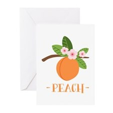Peach Greeting Cards