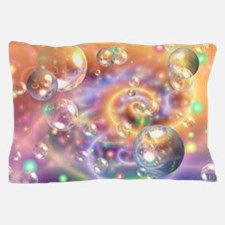 Colorful Floating Orbs Pillow Case
