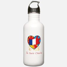 French Heart Je Suis Charlie Water Bottle