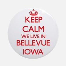 Keep calm we live in Bellevue Iow Ornament (Round)