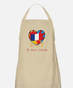 French Heart Je Suis Charlie Apron