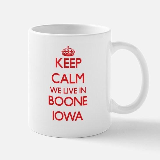 Keep calm we live in Boone Iowa Mugs
