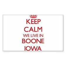 Keep calm we live in Boone Iowa Decal