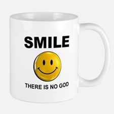 Smile, There Is No God Mugs