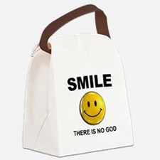 Smile, There Is No God Canvas Lunch Bag
