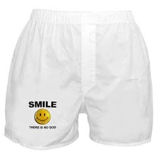 Smile, There Is No God Boxer Shorts
