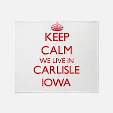 Keep calm we live in Carlisle Iowa Throw Blanket