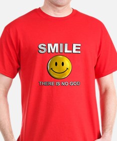 Smile, There Is No God T-Shirt