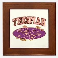 Thespian Drama Mask Sporty Framed Tile