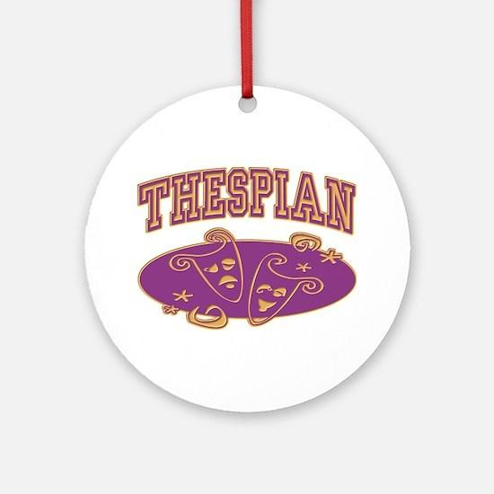 Thespian Drama Mask Sporty Ornament (Round)