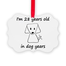 4 dog years 6 - 2 Ornament