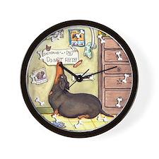 Weighty Weiner Dog Wall Clock