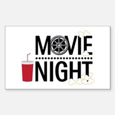 Movie Night Decal