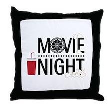 Movie Night Throw Pillow