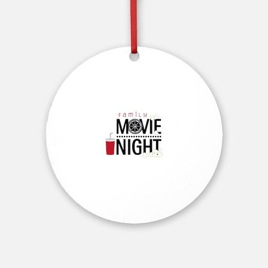Family Movie Night Ornament (Round)