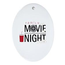Family Movie Night Ornament (Oval)