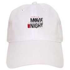 Family Movie Night Baseball Baseball Cap