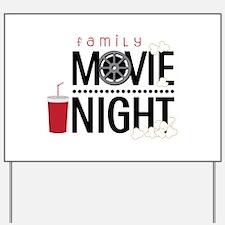 Family Movie Night Yard Sign