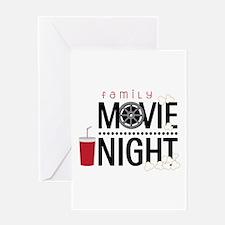 Family Movie Night Greeting Cards