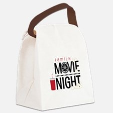 Family Movie Night Canvas Lunch Bag