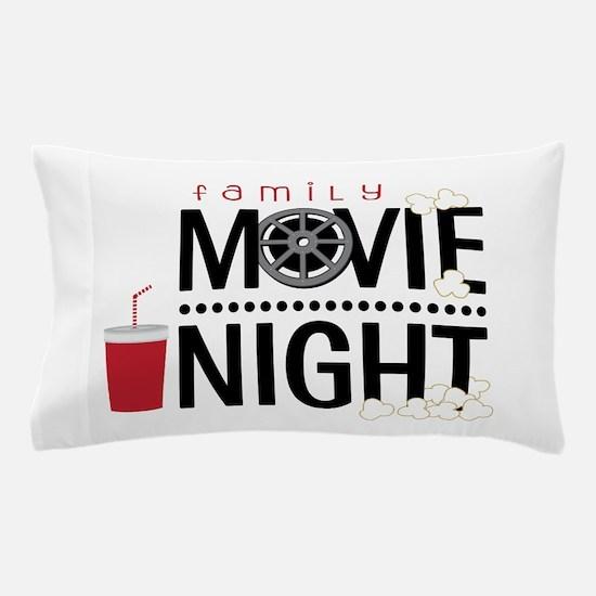 Family Movie Night Pillow Case