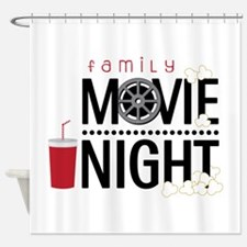 Family Movie Night Shower Curtain