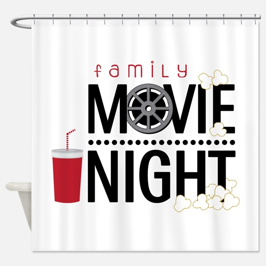 Family Movie Night Shower Curtain