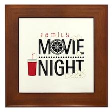 Family Movie Night Framed Tile