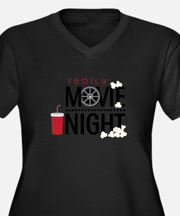 Family Movie Night Plus Size T-Shirt