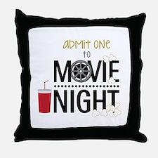 Admit one Movie Throw Pillow