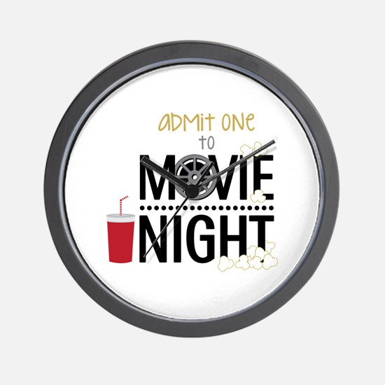 Admit one Movie Wall Clock