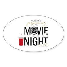 Movie Night Pop Bumper Stickers