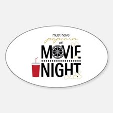 Movie Night Pop Bumper Stickers