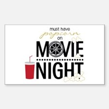 Movie Night Pop Decal