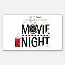 Movie Night Pop Decal