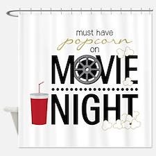 Movie Night Pop Shower Curtain