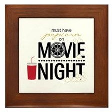 Movie Night Pop Framed Tile