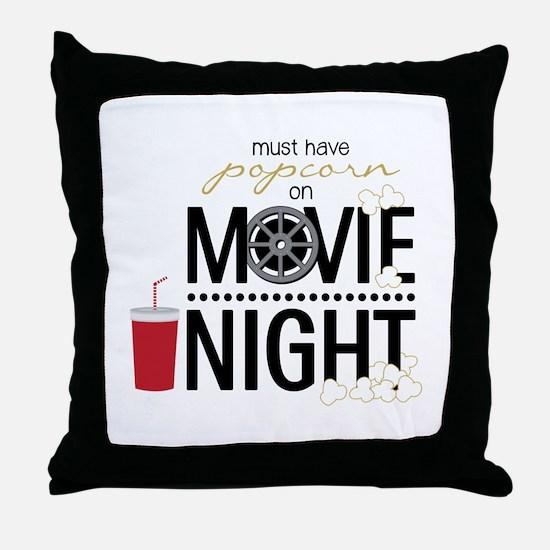 Movie Night Pop Throw Pillow